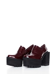 Jamie Wei Huang Square Leather High Heel Red