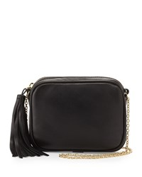 Lauren Merkin Meg Small Leather Crossbody Bag Black