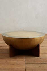 Anthropologie Ozella Coffee Table Gold