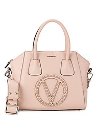 Valentino By Mario Valentino Mini Studded Leather Top Handle Bag Quartz