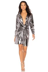 Lioness X We Wore What Fame And Lust Dress Metallic Silver