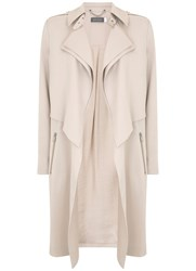 Mint Velvet Oyster Double Layer Trench Neutral