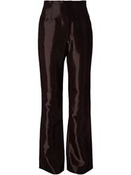Jean Louis Scherrer Vintage High Shine Trousers Red
