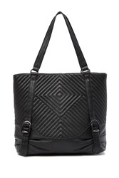 Vince Camuto Tave Quilted Leather Tote Noir 01