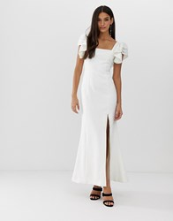 C Meo Collective Heart Of Me Ruflfe Gown White