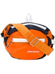 Heron Preston Logo Zipped Belt Bag Yellow And Orange