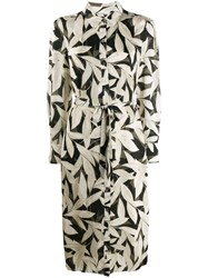 Equipment Foliage Print Shirt Dress Neutrals