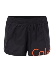 Calvin Klein Neon Placed Logo Beach Runner Short Black