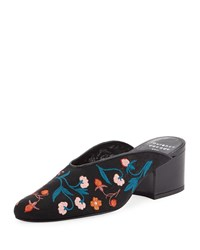 Laurence Dacade Rissy 30Mm Embroidered Mules Black Pattern