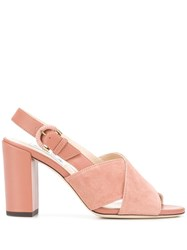 Tod's Slingback Sandals Pink