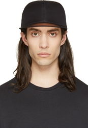 Msgm Black Clear Visor Cap