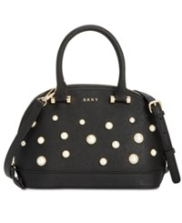 Dkny Round Pearl Small Satchel Created For Macy's Gold White
