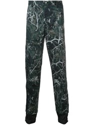 Lanvin Printed Double Hem Trousers Green