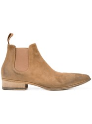 Marsell Pointed Toe Chelsea Boots Brown