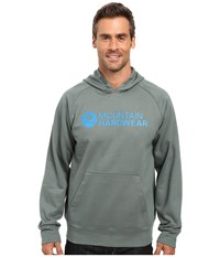 Mountain Hardwear Logo Graphic Pullover Hoodie Thunderhead Grey Men's Sweatshirt Gray