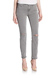 J Brand Skinny Distressed Ankle Jeans Silver Fox