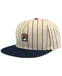 Fila Heritage Baseball Cap Cream Blue