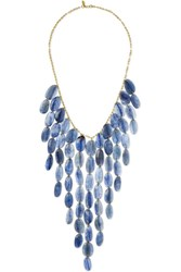 Pippa Small 18 Karat Gold Kyanite Necklace One Size