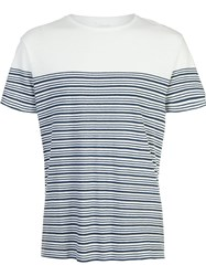 Orlebar Brown Striped T Shirt White