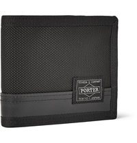 Porter Yoshida And Co Nylon And Leather Billford Wallet Black