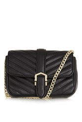 Topshop Magic Quilted Crossbody Bag Black