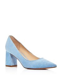 Marc Fisher Ltd. Zala Suede Pointed Toe Pumps Blue
