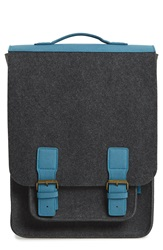 M.R.K.T. 'Kendrick' Water Resistant Backpack Charcoal Pacific Blue