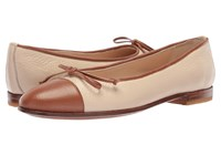 Gravati Bowed Loafer Taupe Cognac Women's Flat Shoes