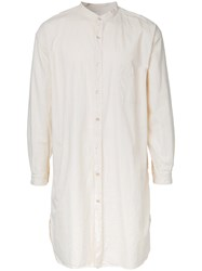 Marka Long Band Collar Shirt White