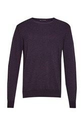 French Connection Men's Minette Micro Knits Jumper Purple
