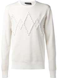 Kris Van Assche Diamond Relief Sweatshirt White