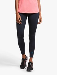 Ronhill Stride Stretch Running Tights Black Hot Pink