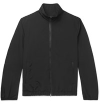 The Row Leo Leather Trimmed Wool Blend Blouson Jacket Black