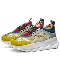 Versace Printed Chain Reaction Sneaker White