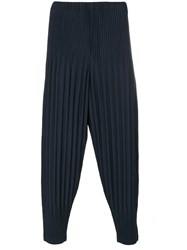 Homme Plisse Issey Miyake Pleated Track Pants Men Polyester 3 Blue