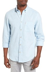 Ben Sherman Men's Mod Fit Linen Blend Woven Shirt