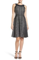 Nic Zoe Women's Whimsical Twirl Knit Fit And Flare Dress