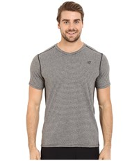 New Balance Striped Sonic Top Black Men's Short Sleeve Pullover