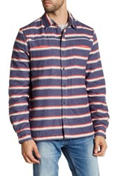 Threads For Thought Flannel Fleece Lined Shirt Jacket Blue
