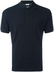 Armani Collezioni Chest Embroidery Polo Shirt Blue