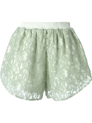 Carven Lace Shorts Green