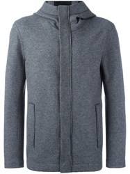 Giorgio Armani Hooded Jacket Grey