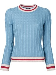 Loveless Cable Knit Jumper Blue