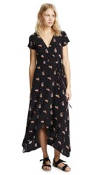 Knot Sisters Adeline Dress Black Feather Dot