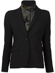 Veronica Beard Camouflage Layer Blazer Black