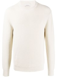 Laneus Ribbed Knit Cotton Jumper Neutrals