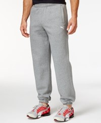 Puma Cuffed Fleece Drawstring Pants Grey Heather