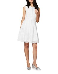 Rachel Roy Fit And Flare Cutout Dress White