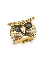 Alcozer And J Rings Owl Brass Ring