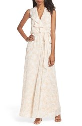 Nouvelle Amsale Women's Poppy Ruffle Gown Nude Print